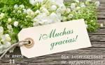 Día internacional de agradecimiento:9